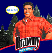 who is this distinguished gentlemen, don't try and tell me, hes my beloved Brawny Man, I dont buy it